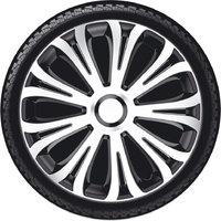Автомобильные колпаки на колеса Модель: АВЕРА серебристо-черный
