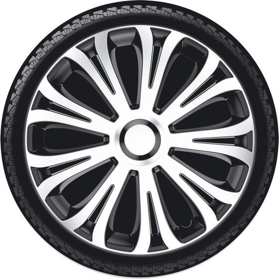 Автомобильные колпаки на колеса Модель: АВЕРА серебристо-черный Бренд: