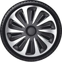 Автомобильные колпаки на колеса Модель: КАЛИБЕР карбон серебристо-черный