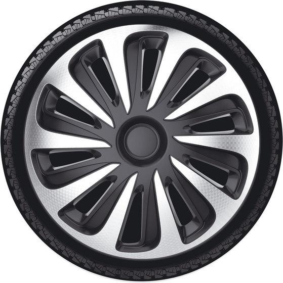 Автомобильные колпаки на колеса Модель: КАЛИБЕР карбон серебристо-черный Бренд:
