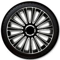 Автомобильные колпаки на колеса Модель: ЛЕМАНС серебрсто-чёрный