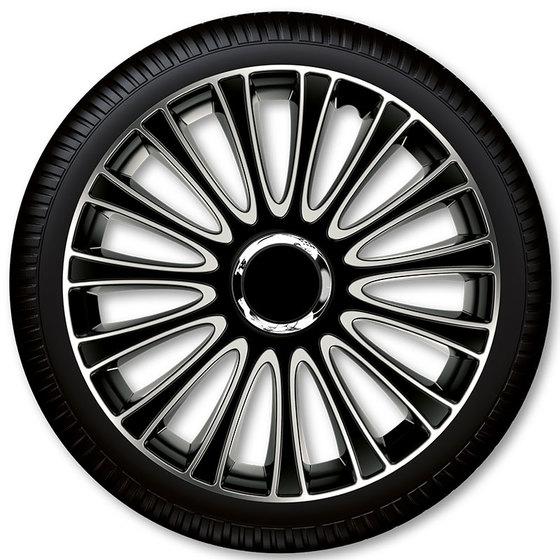 Автомобильные колпаки на колеса Модель: ЛЕМАНС серебрсто-чёрный Бренд: