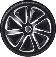 Автомобильные колпаки на колеса Модель: ЛИВОРНО карбон серебристо-черный