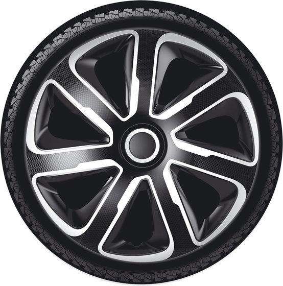 Автомобильные колпаки на колеса Модель: ЛИВОРНО карбон серебристо-черный Бренд: