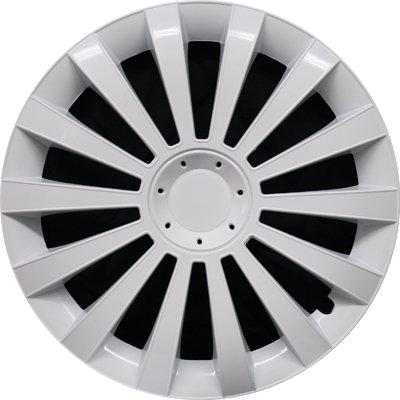 Автомобильные колпаки на колеса Модель: Меридиан Белый Бренд: Jestic