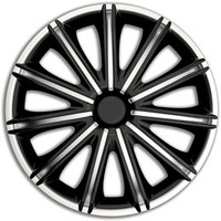 Автомобильные колпаки на колеса Модель: Неро сильвер-черный