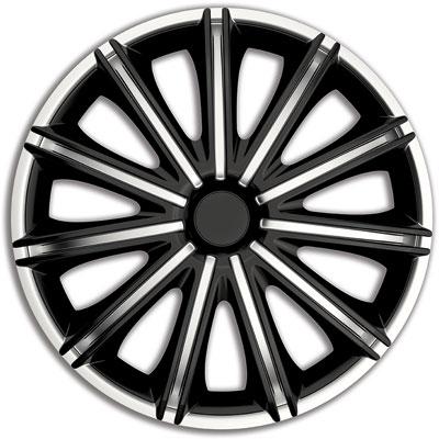 Автомобильные колпаки на колеса Модель: Неро сильвер-черный Бренд: