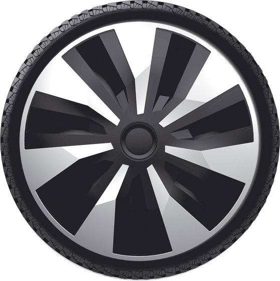 Автомобильные колпаки на колеса Модель: ОРИОН ВЭН  сильвер черный Бренд: