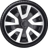 Автомобильные колпаки на колеса Модель: РЕВО ВЭН  сильвер черный