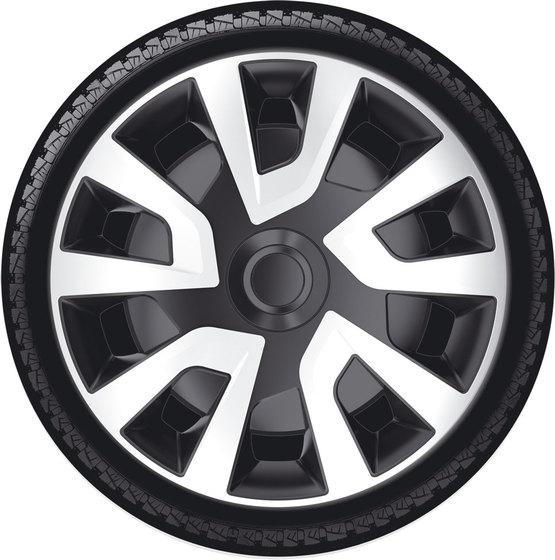 Автомобильные колпаки на колеса Модель: РЕВО ВЭН  сильвер черный  Бренд: