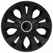 Автомобильные колпаки на колеса Модель: ТОП Ринг Черный Бренд: Jestic