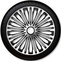 Автомобильные колпаки на колеса Модель: Волант сильвер чёрный