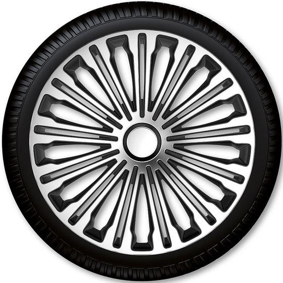 Автомобильные колпаки на колеса Модель: Волант сильвер чёрный Бренд: Gorecki